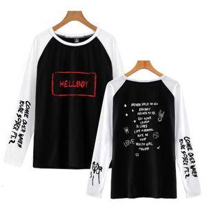 Moda Marca Hip Hop Harajuku Lil Peep Amor Longo T-shirt Das Mulheres e Homens de Manga Longa T-shirt de Impressão Kpop Casual Streetwear Casal Tee