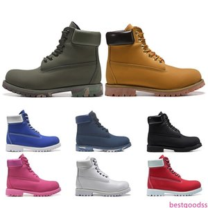 Fashion luxury Designer Boots Men Triple Black Platform Military Motocycle Boot Chestnut White Mens Trainer Womens Sneakers Free Shipping