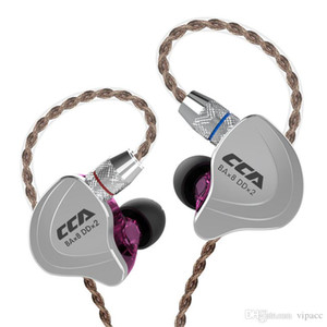 CCA C10 Earphone 4BA+1DD Hybrid 3.5mm In Ear Wired Headphone HIFI Monitor Running Sports Earbuds 5 Drive Unit Headset 2PIN Cable new