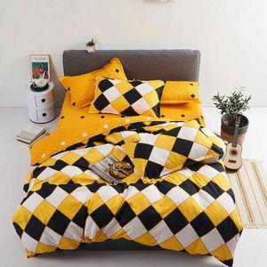 Designer Reactive Printing Home bed set pillowcase duvet cover Bedding set flat sheet bedclothes 4pcs queen king Single full