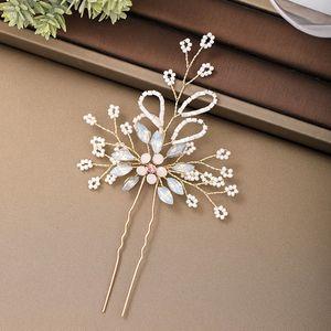 FORSEVEN delicado Brilhando cristal pérolas Beads Flor Folha Grampos Noiva Noiva nupcial do casamento Véus Headpieces