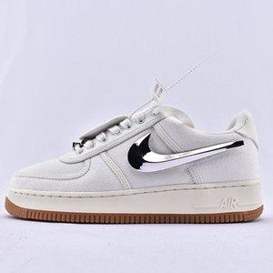 Travis Scott Nike Air Force 1 Low AF1 Nero AQ4211-100 Designer Men Shoes Hommes lusso scarpe pantofola diapositive consiglio Sneakers Sport 36-45