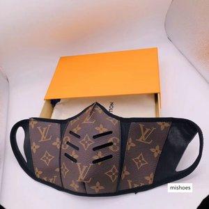 Designer Anti-Staub-Baumwolle Mund-Gesichtsmaske Schwarz Schutzmasken Unisex Facemask Mann Frau trägt schwarze Mode Luxus Facemask haben Box