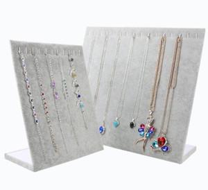 Terciopelo collar de las pulseras stand de joyería del estante de exhibición de la joyería para la joyería de visualización 2pcs / DS17 * Envío gratuito