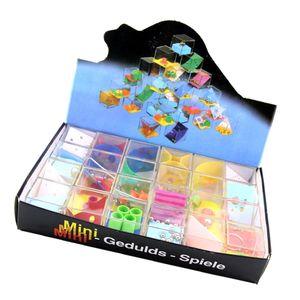 24pcs set Maze Puzzles Beads Games Toy Balancing Ball Labyrinth Box Developmental Brain Teasers Toy