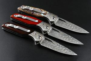 modello veloce pieghevoli Damasco coltello 3D lama di campeggio lama di caccia di sopravvivenza Autodifesa esterni della lama tattica Adker