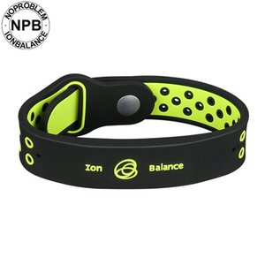 Noproblem Antifatigue Power Fitness Sports Ion De Silicone Balance Tourmaline Germanium Charms Bracelet Bracelet Bracelets SH190713