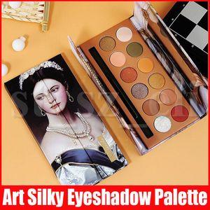 12 colori d'epoca Silky eyeshadow affumicato opaca di luccichio naturali Pressed Powder Eye Shadows 4 colori