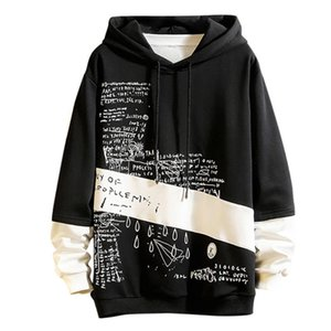 streetwear hoodie Men's New Style Casual Fashion Patchwork Hoodie Long Sleeves Sweatershirt Tops sudadera hombre il peep