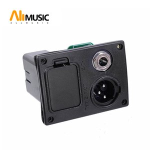 10pcs 9V Battery Boxs Holder Case With Connector Plug & 4 Pin Socket & Contacts & Output jack for Acoustic Guitar Equalizer EQ