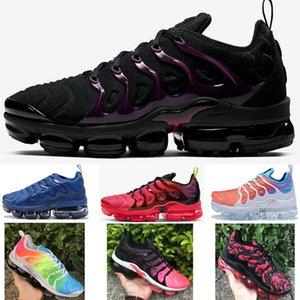 2020 TN Plus Sunset W Red Violet Blue Red Black Designer Running Shoes Designer Sports Sneaker Neweat Color Mens women 36-45