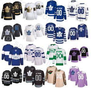2020 모든 스타 토론토 메이플 leafs 유니폼 하키 34 오스톤 매튜스 16 Mitchell Marner 29 William Nylander 91 John Tavares Frederik Andersen