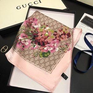 Mesdames quatre saisons design de luxe de la mode Petite place nouveau printemps de luxe / été imprimé petite serviette carrée 50 * 50cm