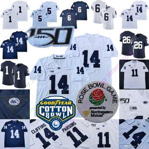 Costumbre 2020 PSU Penn State Football jerseys Colegio Joe Paterno Cappelletti Sean Clifford KJ Hamler Barkley Parsons Brown Caín