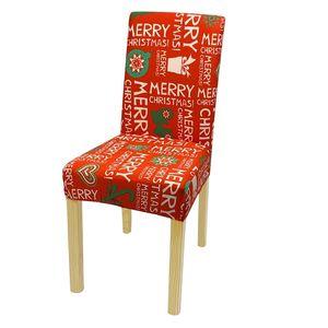 Рождество крышки стула Spandex крышки стула Stretch Elastic Dining сиденья Обложка Съемный чехол для кресла Банкет Xmas Украшение нового GGA2825