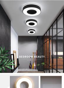 Diamètre 240mm Moderne Led Lustre Pour Houx Allée Couloir Chambre Noir Ou Blanc Carré/Rond / Triangle LED Lustre