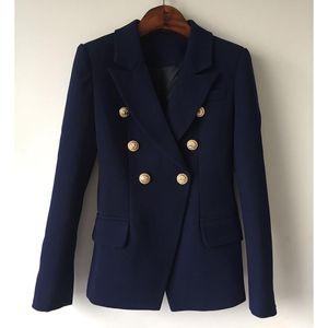 HAGEOFLY 2017 Giacchette Ufficio Giacche Blazer blu donne Coat delle donne casuali Bottoni Doppio Petto metallo giacca sportiva delle donne