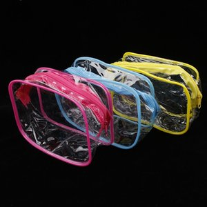 Travel PVC Cosmetic Bags Women Transparent Clear Zipper  Bags Organizer Bath Wash Make Up Tote Handbags Case