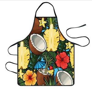 Estilo do Nordic Floral de impressão Impressão Folha Breve Adulto avental da cozinha Cozimento Home Cooking Acessórios Bib Aventais Mulher Para