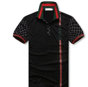 Nova moda G G masculina nova colocação verão lapela manga curta bordar camisetas POLO Casual para homens Polo G2