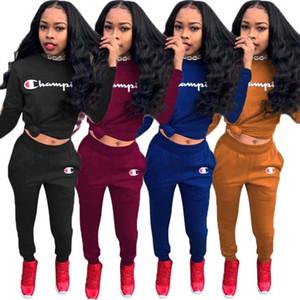 Frauen Outfits Hoodie Gamaschen Sportbekleidung Pullover Hosen Outfits lässig sportsuit Herbst Winter Kleidung der Frauen Brief Oansatz Anzug klw0135