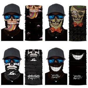 Atacado- 1 1Pcs Outdoor equitação Windproof Dustproof máscara máscaras Magia Silenciador Skull Scarf Headband Montanha Esporte Bicicleta Ciclismo Estrada Fa # 386