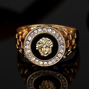 Venda quente dos homens top anel moda hip pop Cabeça Medusa Cor Prata homens negros anel de Dedo para mulheres dos homens