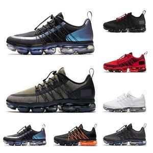 nike air vapormax scarpe per uomo donna Respira lo sport della scarpa da tennis mens formatori Triple scarpa pista nera per gli uomini donne riflettente nera ed arancione