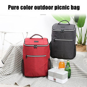 Large Capacity Travel Bag Picnic Backpack for Outdoor Sports Hiking Solid Color Waterproof H66