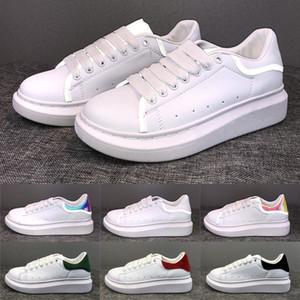 Melhores veludo preto estilista Shoes formadores de Ouro Reflective Couro Plataforma Sneakers Womens Mens Plano de casamento Casual calça as sapatilhas esportivas