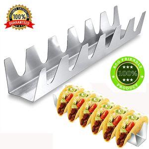Taco Sahipleri Paslanmaz Çelik Taco Tacos ve Sosisli Sandviç Her Şık Taco Yemeği için Tepsi Mükemmel Raf Düzenleyecek Hands ile Standı