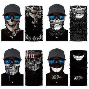2020 3D Camouflage Magic Cycling Skull Scarf Mask Outdoor Headskull Scarf Sport Ski Snowboard Wind Cap Cycling Balaclavas Turban Moto #24#511