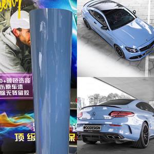 낮은 압정 접착제 3M 품질 1.52x20m의 5x67ft으로 덮고 공기 버블 무료 차량 랩 도자기 파란색 광택 비닐 랩 중국 BLUE 자동차 랩