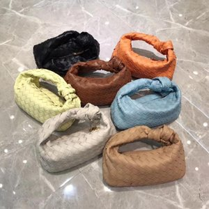 free shipping the new style knitting fashion and hot genuine cow leather women Wristlets bag 7 color 28cm soft bag touch-feeling