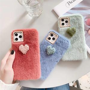 Simples Fashion Designer pequeno amor Plush pano Phone Case para iPhone 11 Pro XS Max 6 7 8 Plus XR