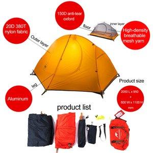 Camping Tent ultralight double layers waterproof beach tent 1 2 person Tourism fishing outdoor carpas gazebo naturehike