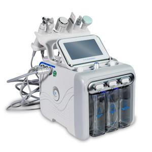 Yeni model 6 1 Küçük Kabarcık Cilt Bakımı Araçlar Ultrasonik RF Hydra Derin Yüz Gözenek Temizleyici Yüz Masajı Machine