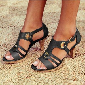 New Style Elegant Strap Sandals Women 2019 Sandals Female Bohemian Style Summer Fashion High Heels Women's Shoes Footwea Y200702