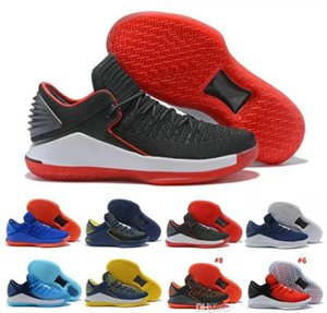 Discount Top MJ Basketball Shoes 32 XXXII Trainer For men Weaves vamp North Carolina basketball blue Black Red Yellow Michael Jumpman Sneake