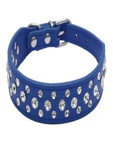 Mode Leder Diamante Hundehalsband Harness Midium Gelb Kaulapanta Bling Rhinestone-Funkeln-Kristall Kleine Hundetraining Colla