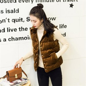 Designer Spring and Autumn Sleeveless Donna Short Coats Casual Single Breasted Female Clothes Pleuche Womens Vesta