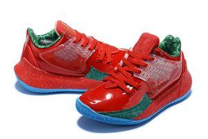 Per bambini di alta qualità a basso kyries 2 mr Krabs calda di vendita con la scatola di trasporto del nuovo 5 GS ragazzi delle donne di pallacanestro scarpe negozio Size 30-35