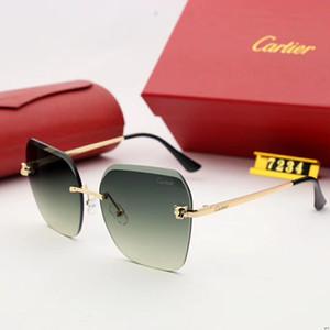 Gafas de sol de diseñador Gafas de sol de lujo Marca de moda para hombre Conducción de vidrio UV400 Adumbral con caja Color Opcional Alta calidad