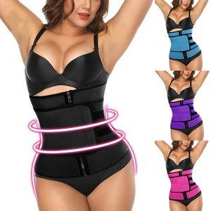 Más el tamaño de la talladora del cuerpo de la cintura de la correa postparto de las mujeres entrenador del vientre adelgaza la ropa interior de la correa de Modelado Fajas abdomen aptitud del corsé