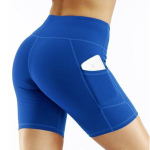 UPS освобождает корабль Женщины Энергия высокой талией Йога Шорты Бесшовная Push Up Hip Gym шорты Фитнес Спорт гетры Nepoagym короткие штаны до колен