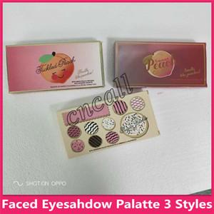 3 Modelle berühmtes gegenübergestelltes süßes Pfirsich-Glühen-Kuchen-Pfirsich Eyesahdow Auge und gegenübergestelltes bilden Palatte mit freiem Verschiffen