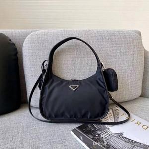 Prada 2pcs / set bolsa de ombro Designer mulheres Peito pacote senhora bolsas de cadeias bolsa do saco bolsa Crossbody mensageiro bolsas de lona Totes