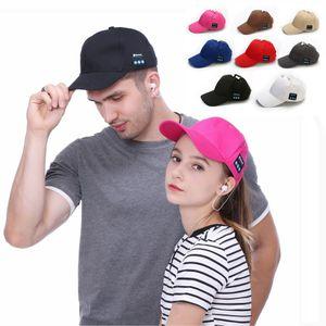 Bluetooth Music Baseball Cap Creative Canvas Sun Hat Music Handsfree Headset with Mic Speaker Cap Sport Ball Hat TTA1562