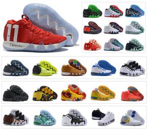 Chaussures de basketball pour hommes Kyrie IV Zoom Halloween Irving Jour de la mort 4 4S Sport trainers Sneakers Taille