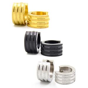 Ohrreifen European American Ornaments Ohr-Haken Drei Themen-Gold-bereifte Ohrringe koreanische Version Edelstahl